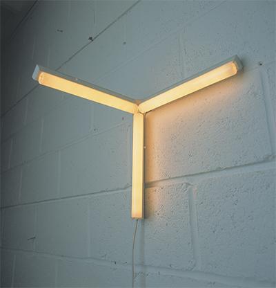 Corner Lights 01 2000 Watts architectural strip lights, plexiglass support,  cable.