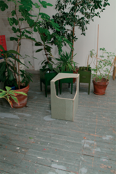 Four Seater Empty Chairs 2004 Chipboard 50 × 450 x 600mm, Unique