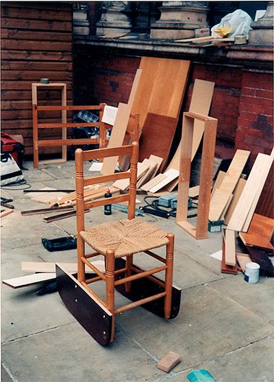 FWUW Rockin'chair 2001 Chair, plywood 450 × 500 x 650mm, Unique