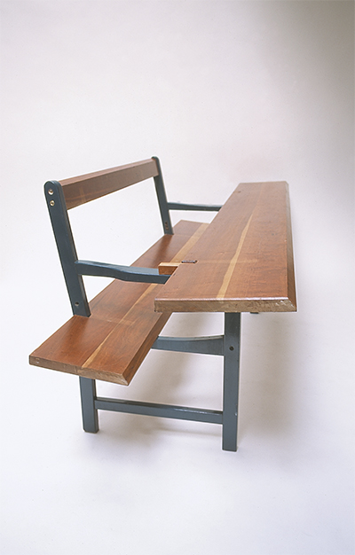 Long Bench 2002 Chair, cherry timber 700 x 2000 x 850mm, Unique