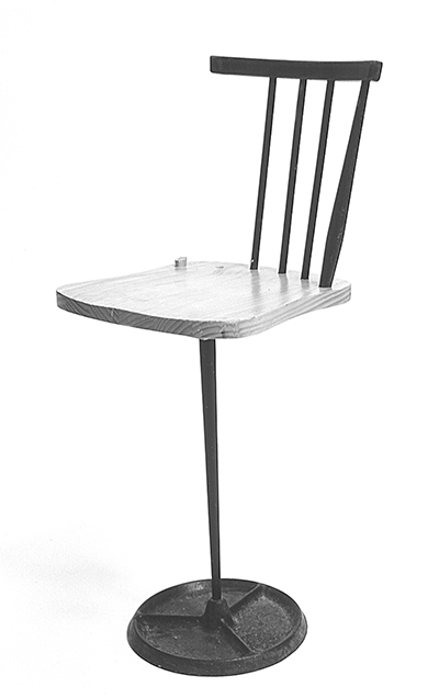Top of the Stick Chair 2003 Chair, coat hanger base, metal 400 × 400 x 1500mm, Unique