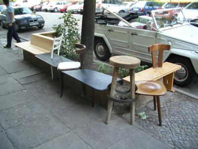 Berlino Bench 2004 Reclaimed furniture, wood