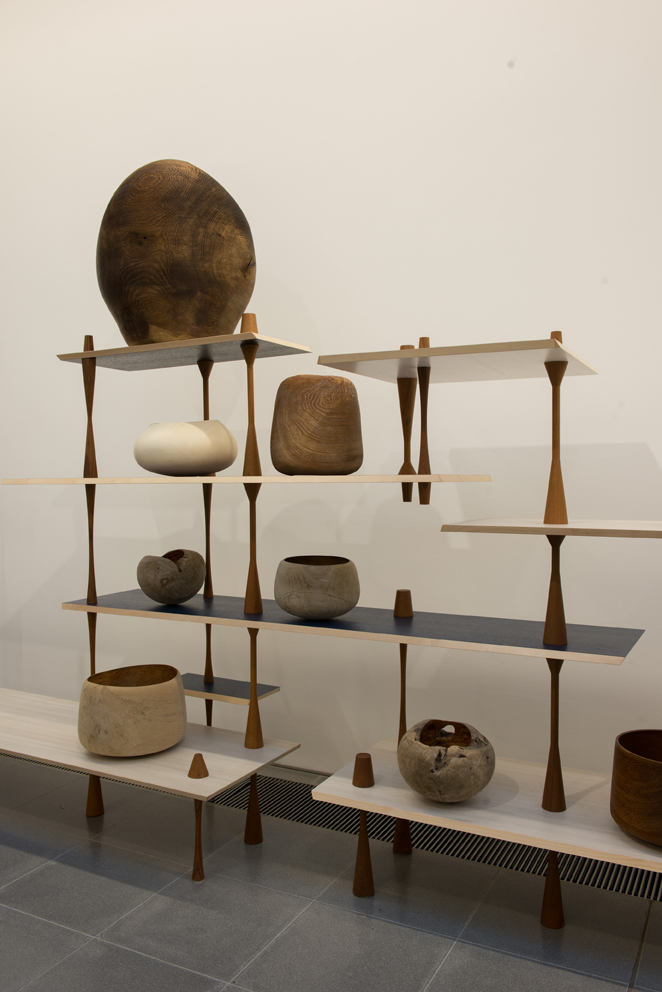 Martino Gamper Turnaround 2011 Teak, coloured veneer, block board with maple edges Courtesy of the artist and Nilufar Gallery Objects courtesy of Ernst Gamperl