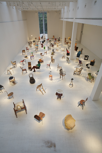 Exhibition View of 100 Chairs in 100 Days