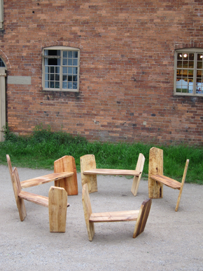 Calke Benches 2010 Lime wood felled from Calke Abbey