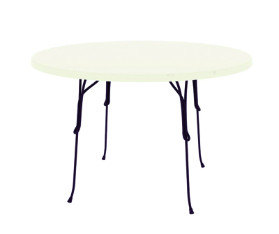Vigna Table 2011 Frame in steel rod, cataphoretically-treated and painted in polyester powder, top in Werzalit Ø1200 x 730mm