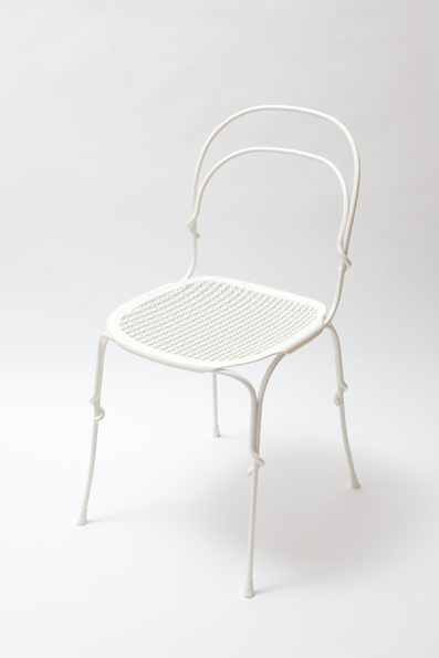 Vigna Chair 2010  Frame in steel rod, cataphoretically-treated and painted in polyester powder. Seat made of polypropylene. Bi-injection moulded.  420 x 490 x 840 mm