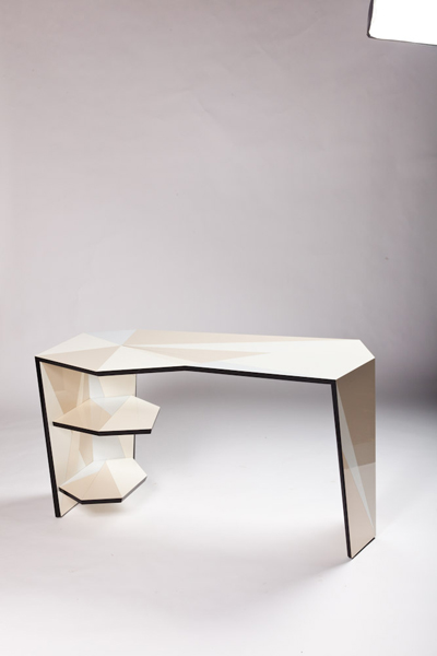 Off-White Off-Cut Desk 2011 Laminate, black mdf