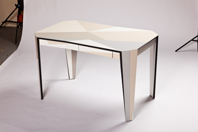 Drawer On Table Off-Cut 2011 Laminate, black mdf