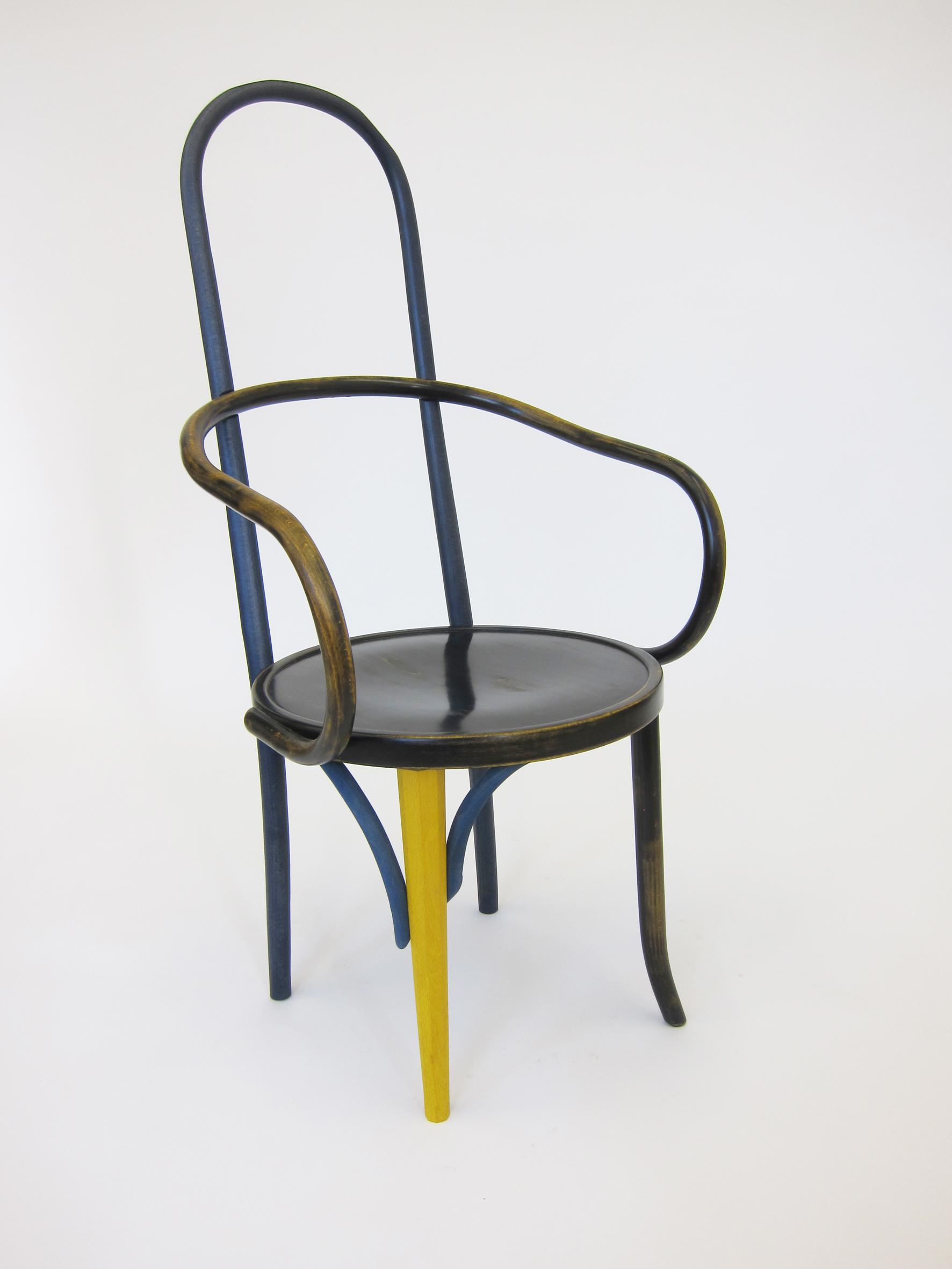 High - Mundus 2013, appropriated mundus chair, 116 x 56 x 60 cm