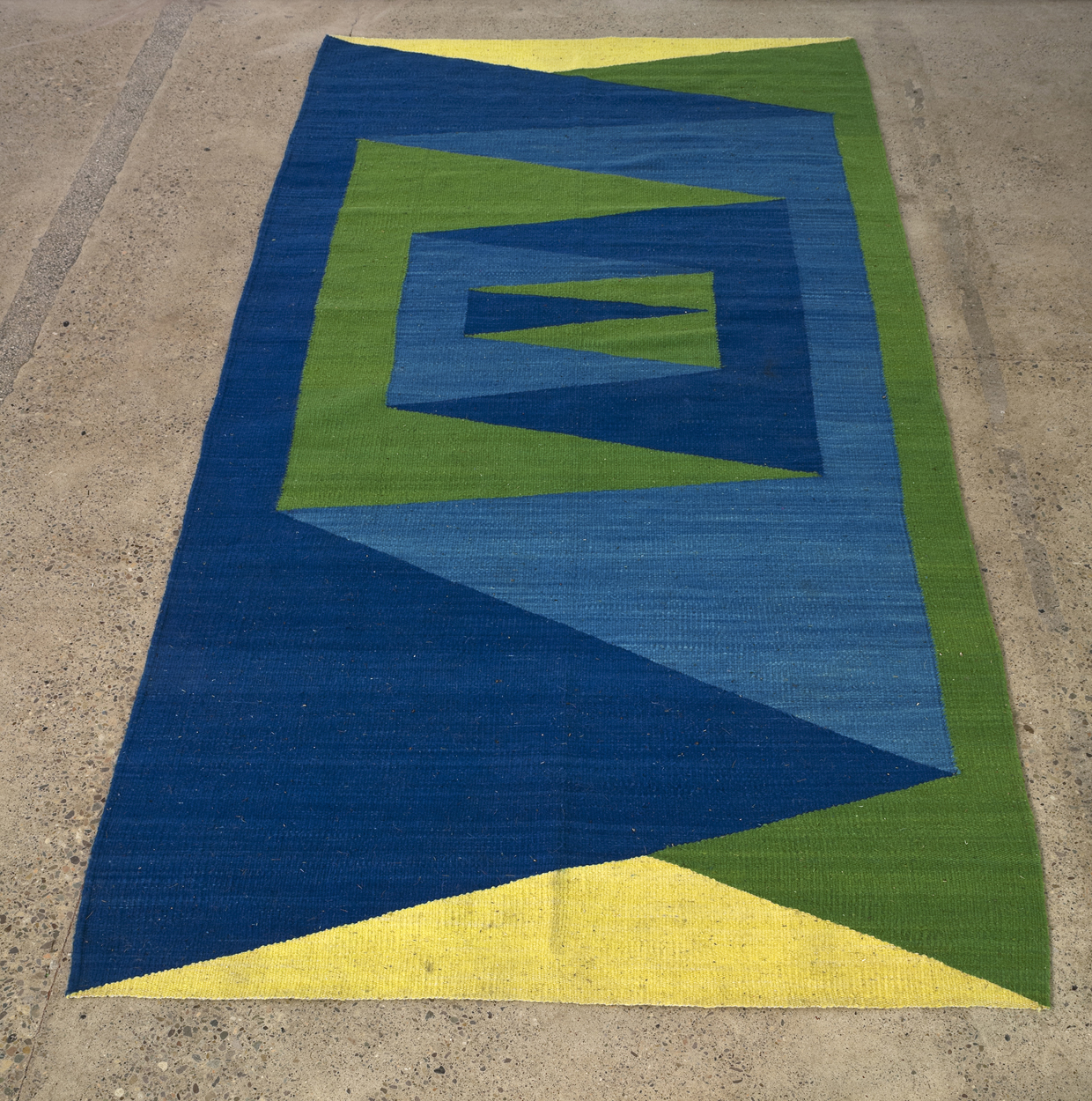 Folded While Woven, 2013 woven wool carpet, 148 x 301 cm