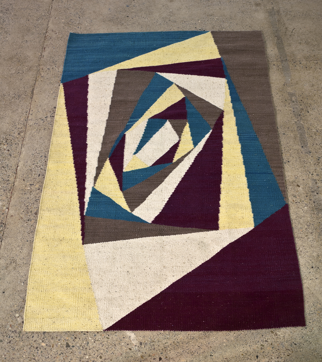Twistings While Woven, 2013 woven wool carpet, 129 x 215 cm
